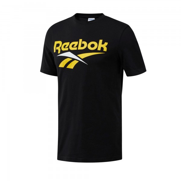 Reebok Classics Vector T-Shirt (Black/Toxic Yellow)