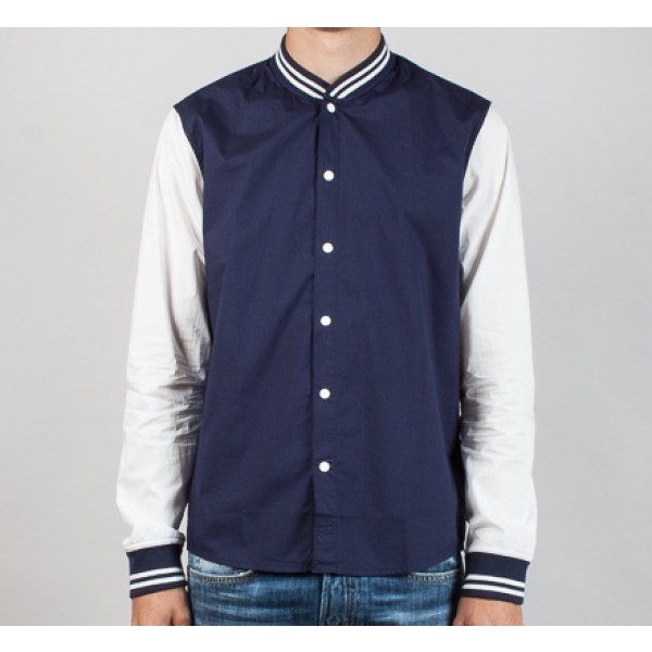 Edwin Baller Shirt Baseball Jersey (Navy / Off White)