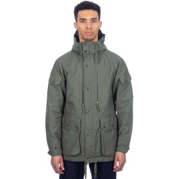 Engineered Garments Field Jacket (Olive Cotton Double Cloth)
