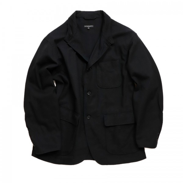 Engineered Garments Loiter Jacket (Black Cotton Heavy Twill)
