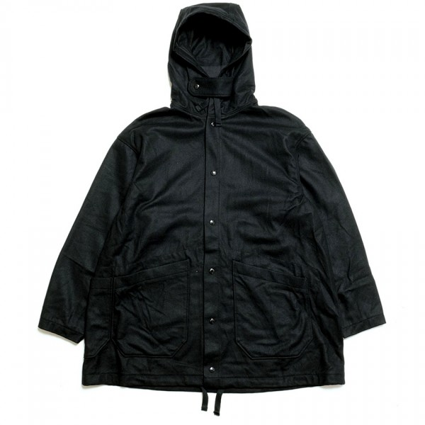 Engineered Garments Madison Parka (Black 20oz Wool Melton)