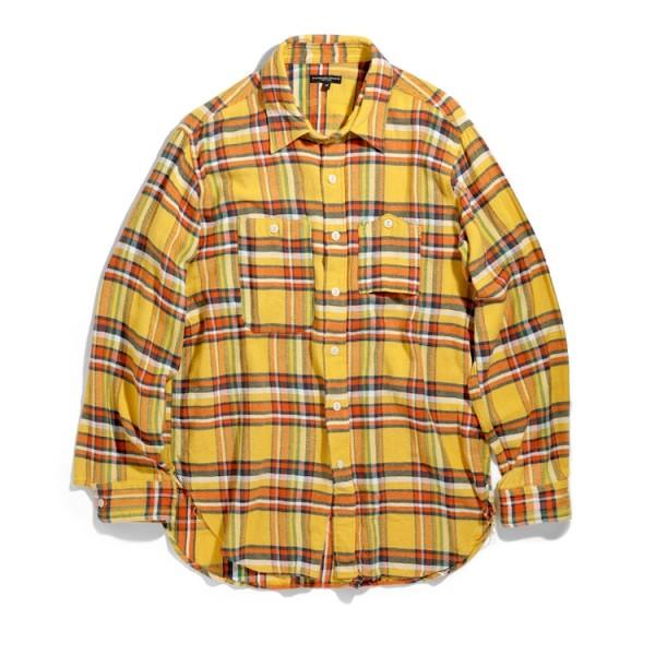 Engineered Garments Work Shirt (Yellow Cotton Twill Plaid)