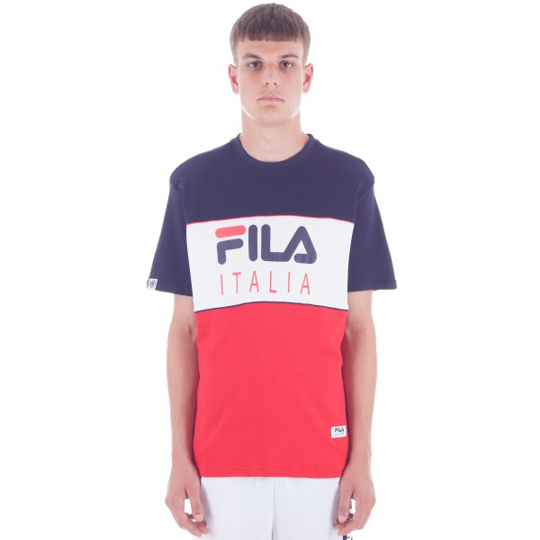 FILA Black Line Manchee T-Shirt (Peacoat/White/Red)
