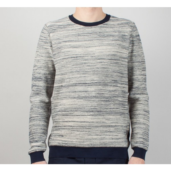 Folk Bib Jumper (Ecru Bright Navy)