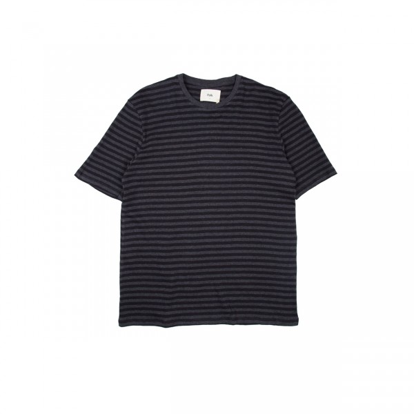 Folk Classic Stripe T-Shirt (Black Charcoal)