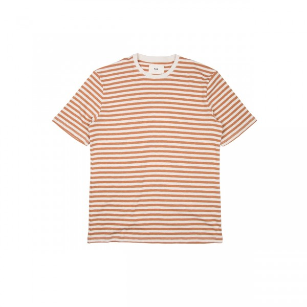 Folk Classic Stripe T-Shirt (Clay Ecru)