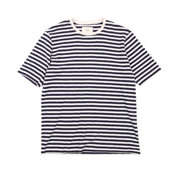 Folk Classic Stripe T-Shirt (Ecru/Navy)