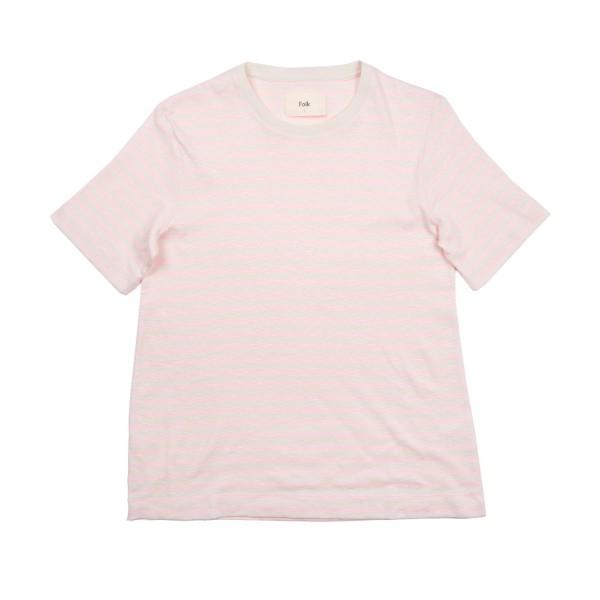 Folk Classic Stripe T-Shirt (Pink/Ecru)