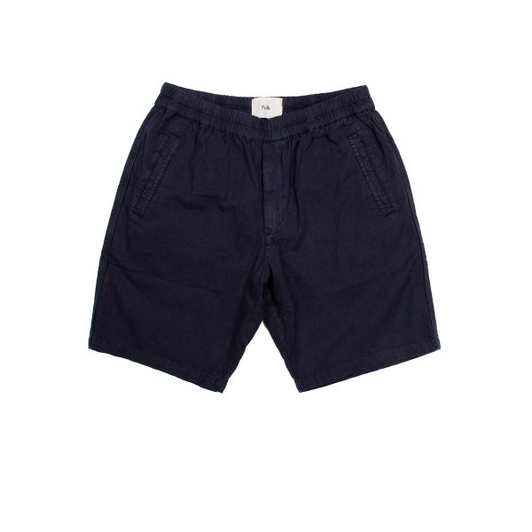 Folk Cotton Linen Shorts (Summer Navy)