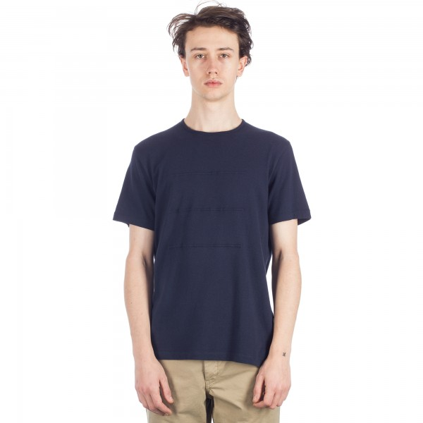 Folk Deboss T-Shirt (Navy)