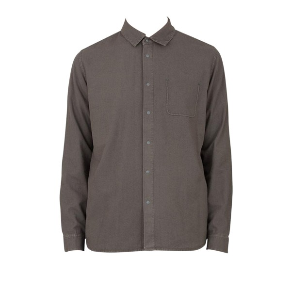 Folk Flannel Pop Stud Shirt (Military Green)