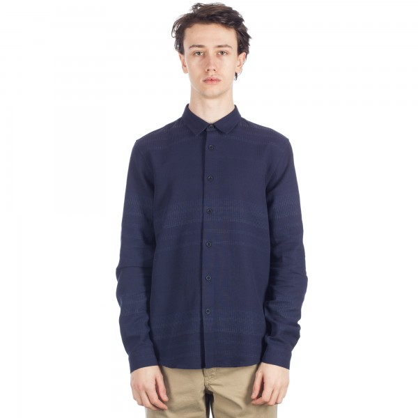 Folk Fog Long Sleeve Shirt (Gradient Navy)