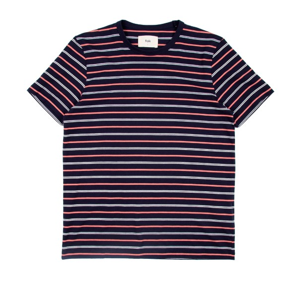 Folk Horizon T-Shirt (Navy/Rhubarb/Ecru)