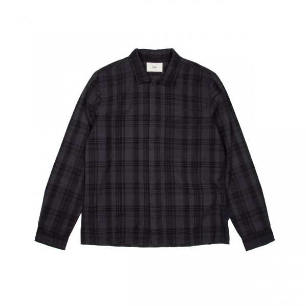 Folk Patch Shirt (Charcoal Multi Check)