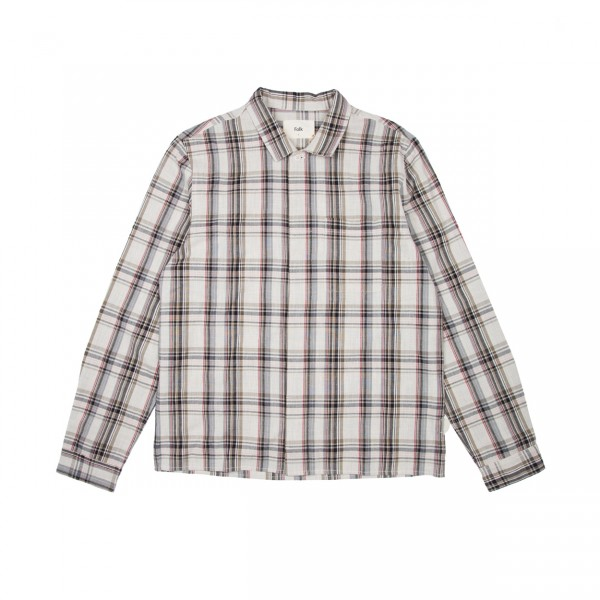 Folk Patch Shirt (Oatmeal Khaki Multi Check)