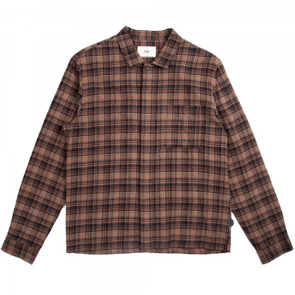 Folk Patch Shirt (Brown Multi Check)