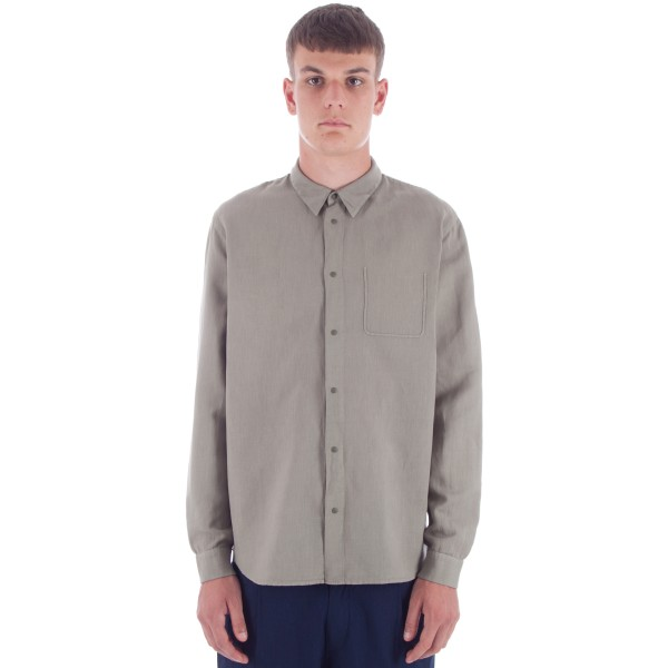 Folk Pop Stud Shirt (Soft Military Green)