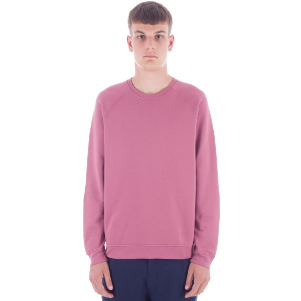 Folk Raglan Crew Neck Sweatshirt (Soft Burgundy)