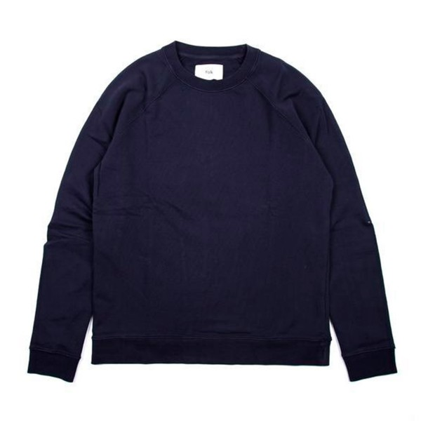 Folk Rivet Crew Neck Sweatshirt (Navy)