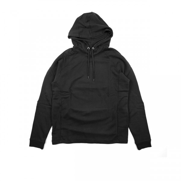 Folk Rivet Pullover Hooded Sweatshirt (Soft Black)