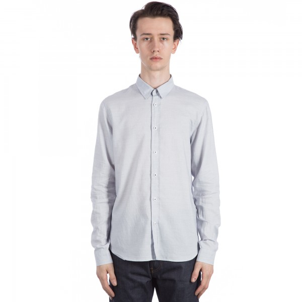 Folk Smart Long Sleeve Shirt (Ecru Blue)
