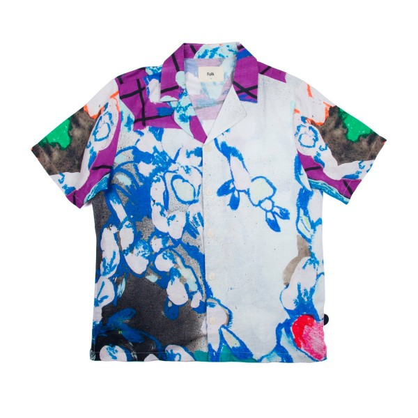 Folk Soft Collar Shirt (Roller Print)