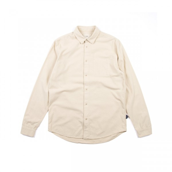 Folk Stitch Pocket Shirt (Sand)