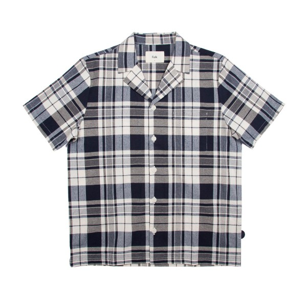 Folk Storm Shirt (Ecru Multi Check)
