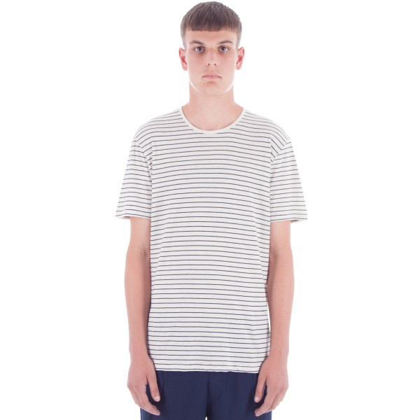 Folk Stripe T-Shirt (Ecru/Navy)
