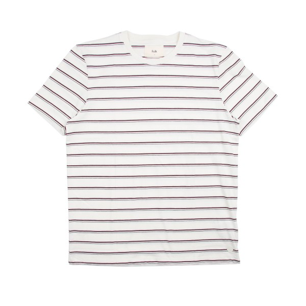Folk Striped T-Shirt (Ecru/Plum/Navy)