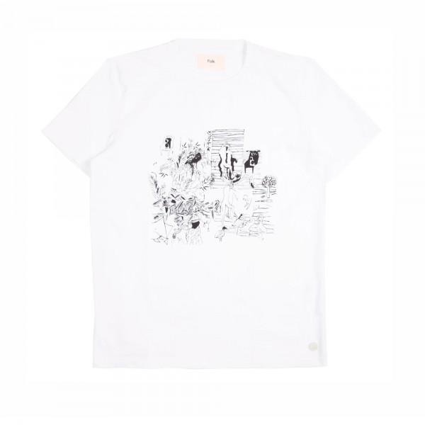 Folk x Goss Brothers Charm Print T-Shirt (White)