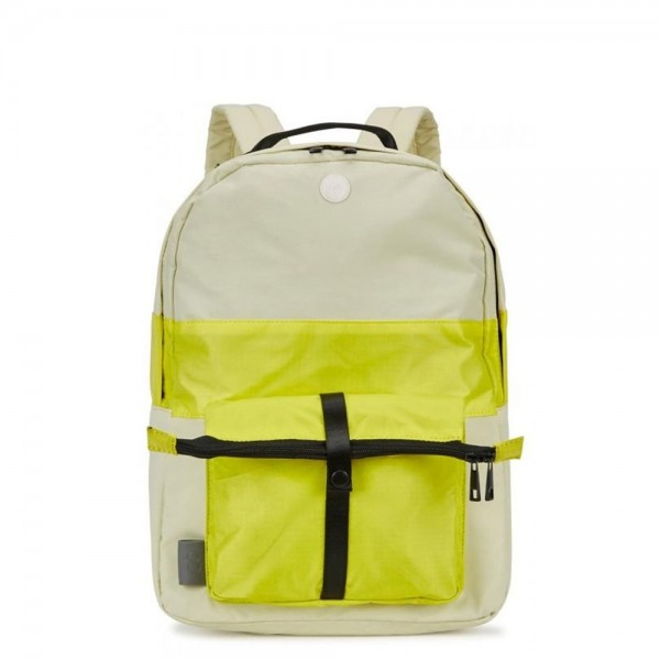 Folk Pocket Backpack (Soft Lemon Yellow)