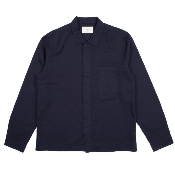 Folk Patch Shirt (Navy)
