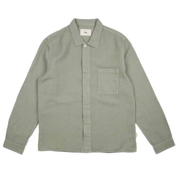 Folk Patch Shirt (Washed Green)