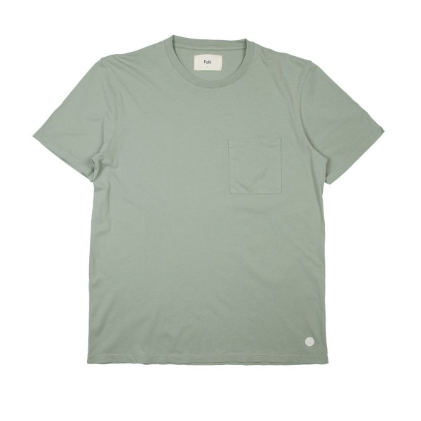 Folk Pocket Assembly T-Shirt (Washed Green)