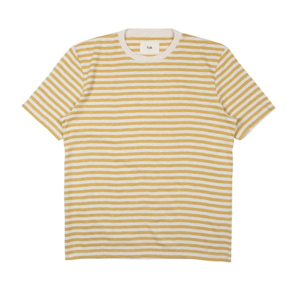 Folk Classic Stripe T-Shirt (Straw Ecru)