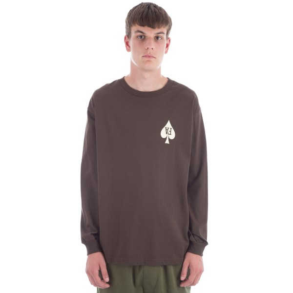 Fucking Awesome Heart Long Sleeve T-Shirt (Chocolate)