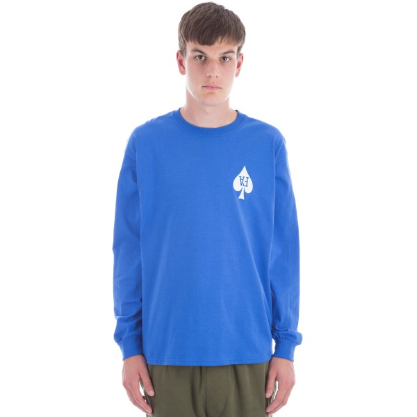 Fucking Awesome Heart Long Sleeve T-Shirt (Royal)