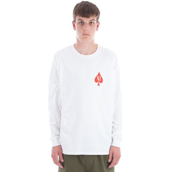 Fucking Awesome Heart Long Sleeve T-Shirt (White)