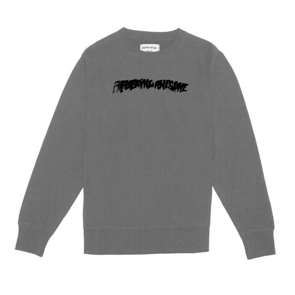 Fucking Awesome Stamp Crew Neck Sweatshirt (Grey Heather)