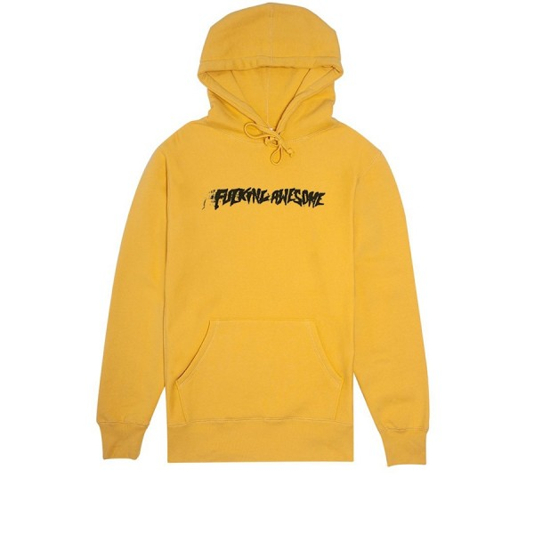 Fucking Awesome Stamp Pullover Hooded Sweatshirt (Mustard)