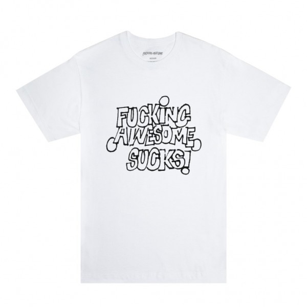 Fucking Awesome FA Sucks T-Shirt (White/Black)