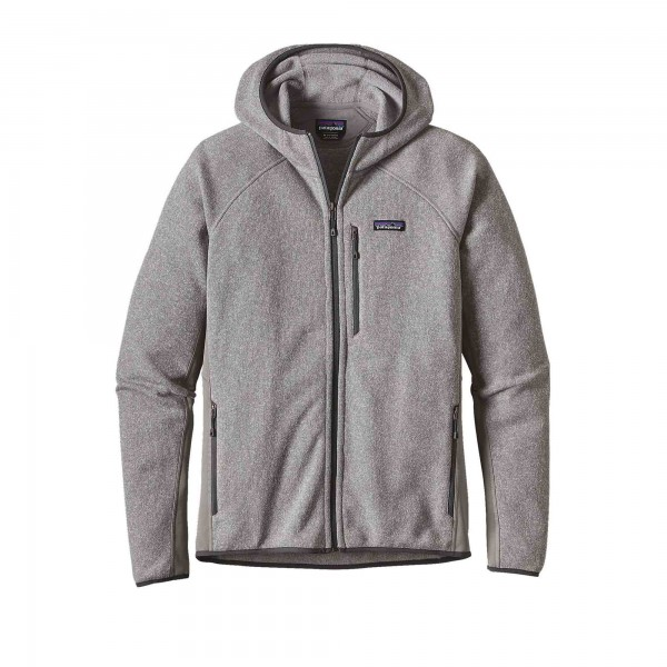 Patagonia Performance Better Sweater Fleece Full-Zip Hooded Sweatshirt (Feather Grey)