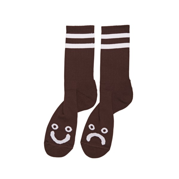 Polar Skate Co. Happy Sad Socks (Brown)