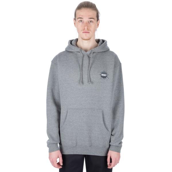 Hockey Splat Pullover Hooded Sweatshirt (Athletic Grey)