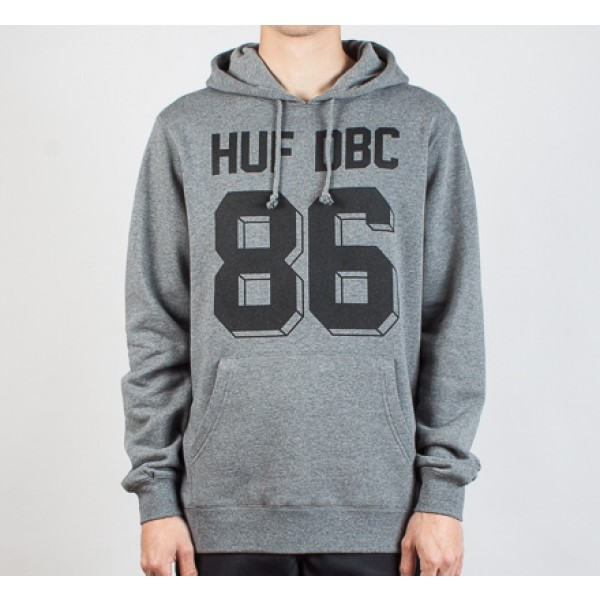 HUF Franco Pullover Hooded Sweatshirt (Gray Heather)