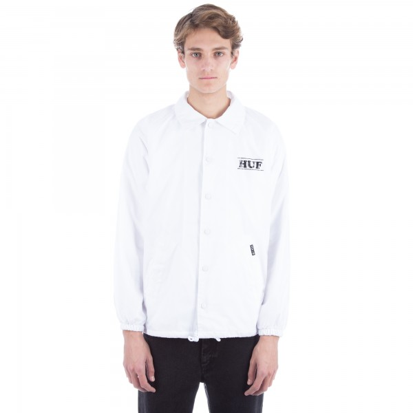 HUF x Peanuts PigPen Coaches Jacket (White)