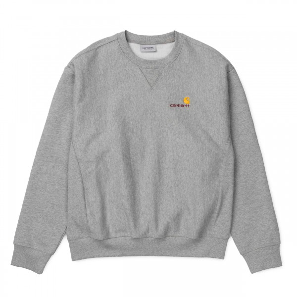 Carhartt American Script Crew Neck Sweatshirt (Grey Heather)