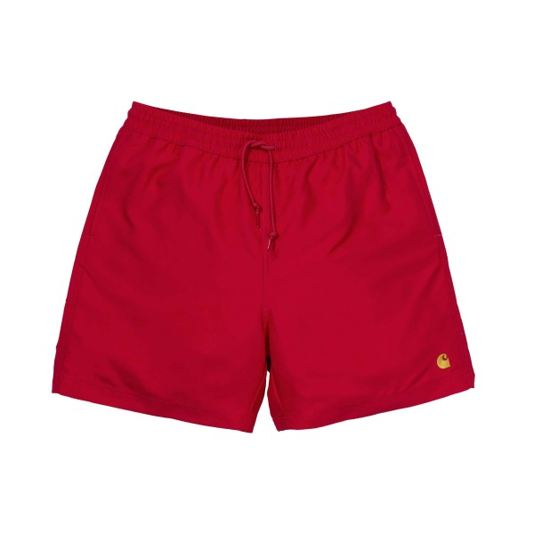 Carhartt Chase Swim Trunks (Cardinal/Gold)