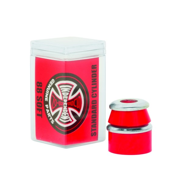 Independent High Rebound Standard Cylinder Soft 88A Bushings (Red)